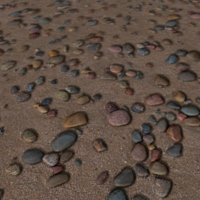 G413 shingle beach sand pebbles SRF