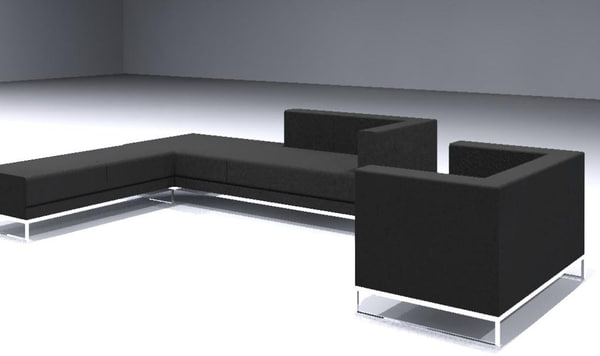 3ds sofa set contemporary bench