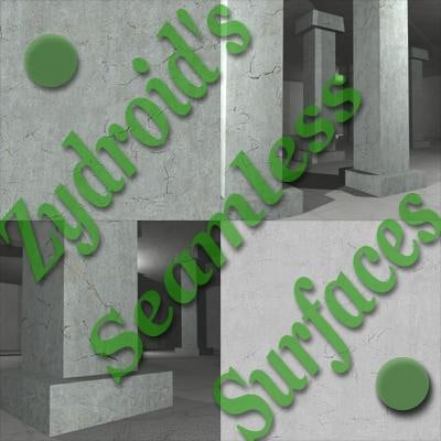 SRF concrete wall aged
