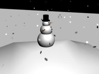 winter scene snowman snow 3d max