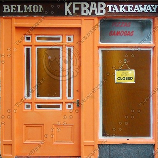 SFNT005 kebab shop front texture