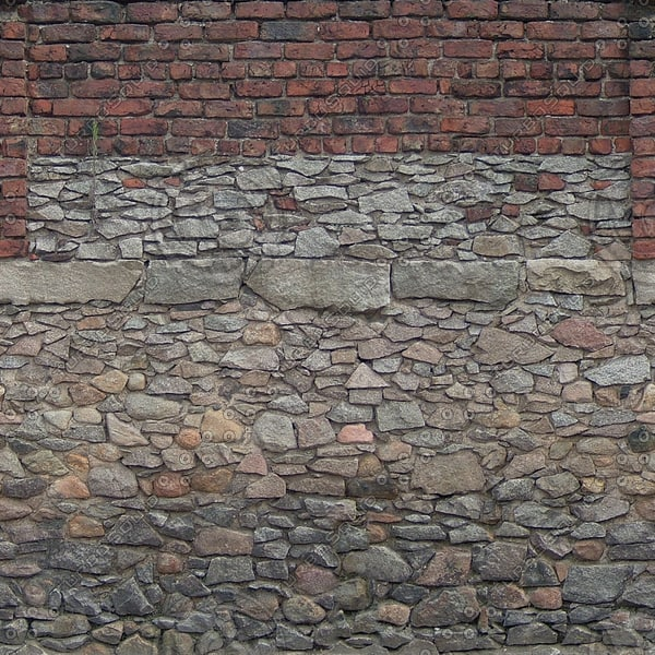 W149 brick stone wall