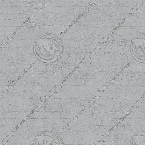 BRK118 white painted bricks texture
