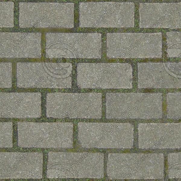 G353 sidewalk brick paving texture