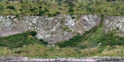 G354 coastline hillside rockface texture