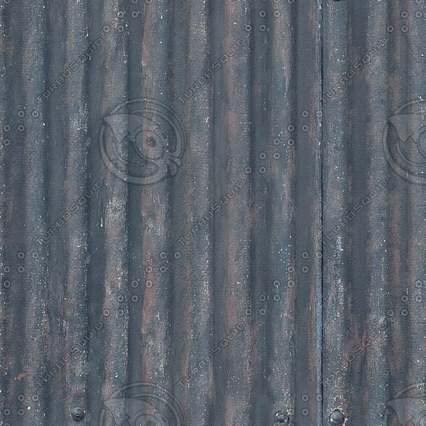 M158 corrugated metal roof texture