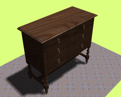 autocad chest drawers 3d x