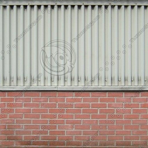W016 metal brick wall texture