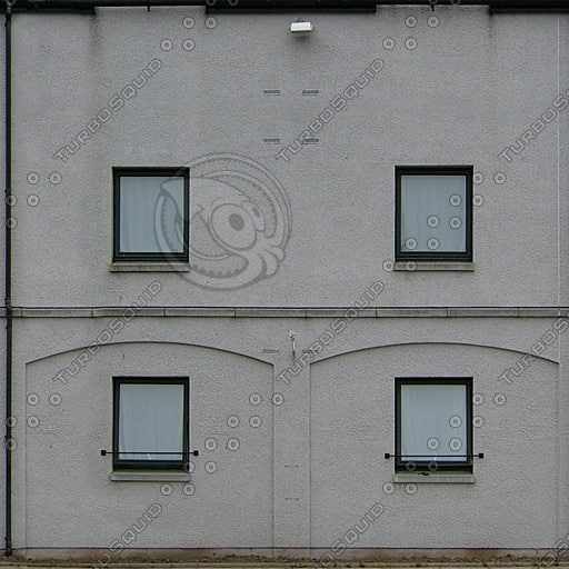 BF082 motel building facade