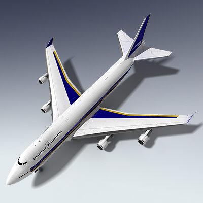 3d 747 airplane
