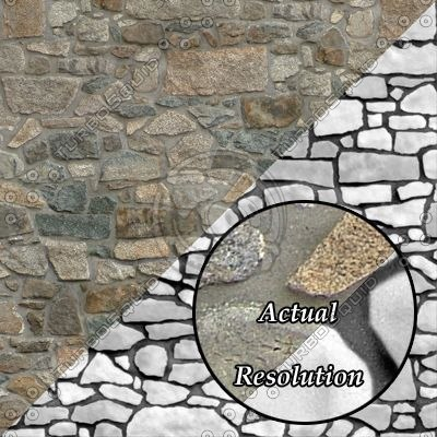 SW018 stone wall texture with bump map