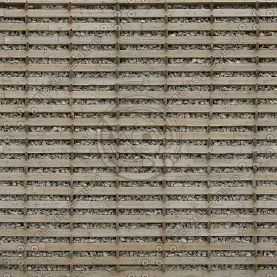W446 gabion wooden wall