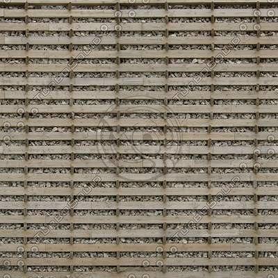 W446 gabion wooden wall