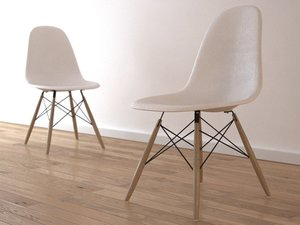 3d 3ds chair charles eames plastic