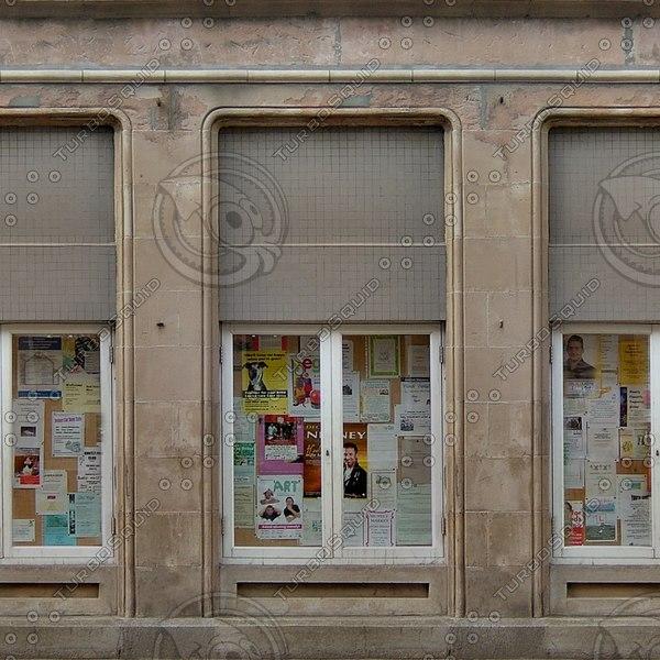 BF111 sandstone wall shop facade texture