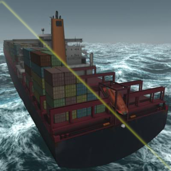 container ship bonn express 3d model