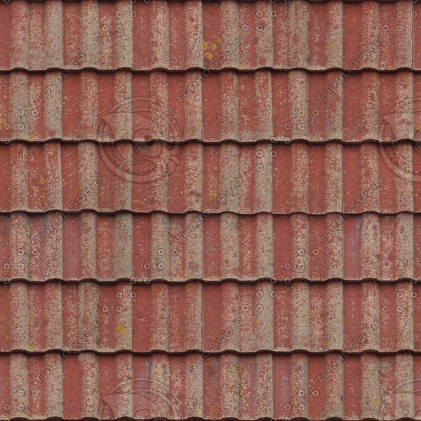 R092 red clay roof tiles texture
