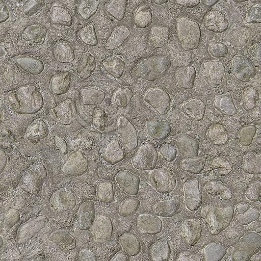 G079 concrete cobbles sidewalk texture