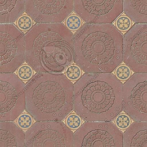 FL001 roset floral tiles texture 512