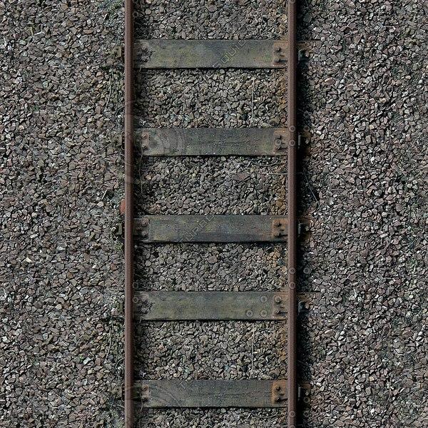 G087 railway tracks wooden sleepers 1024