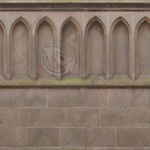 W040 sandstone wall church texture