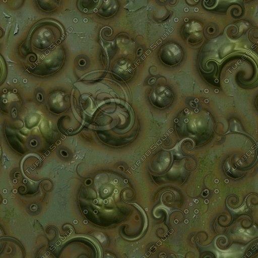 Ornate roman metal texture