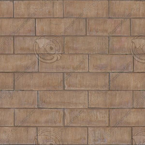 BR110 smooth brown bricks texture