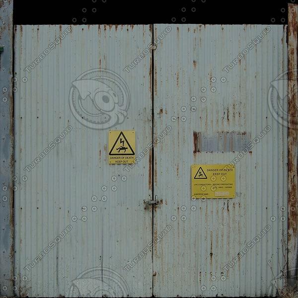 D148 metal gate door