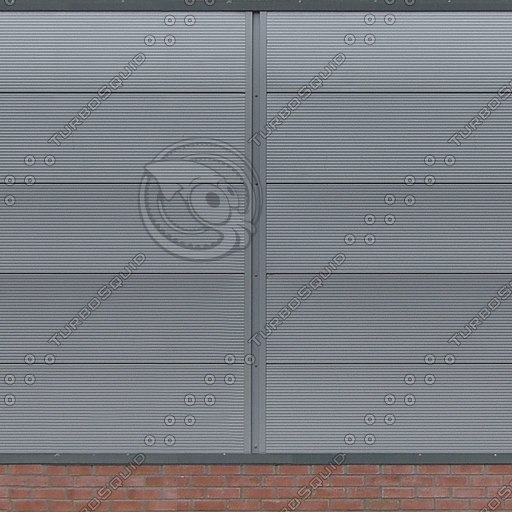 W293 metal warehouse wall texture