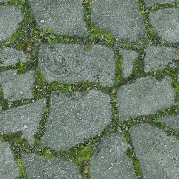 G360 mossy crazy paving texture