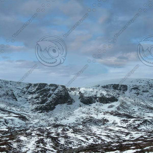 BG025 snowy mountain mountainside