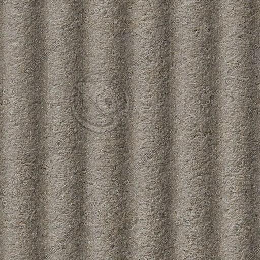 C091 corrugated concrete wall
