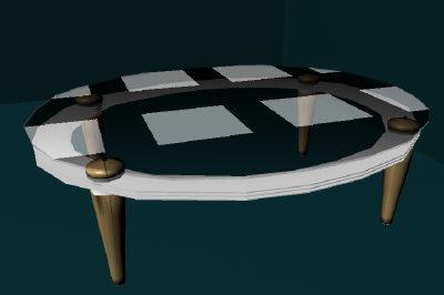 maya glass table