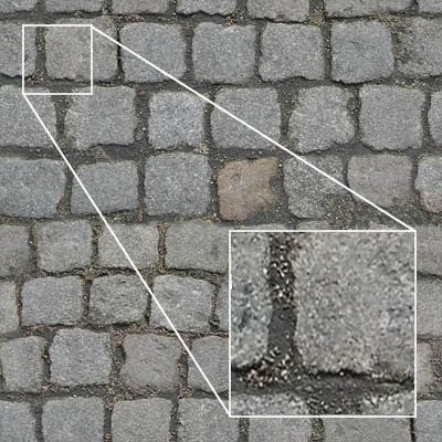 High rez, tileable cobbles