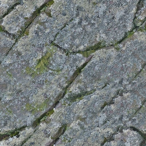RS075 rock stone mossy