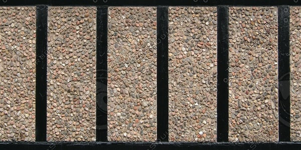WTX039 concrete pebble wall