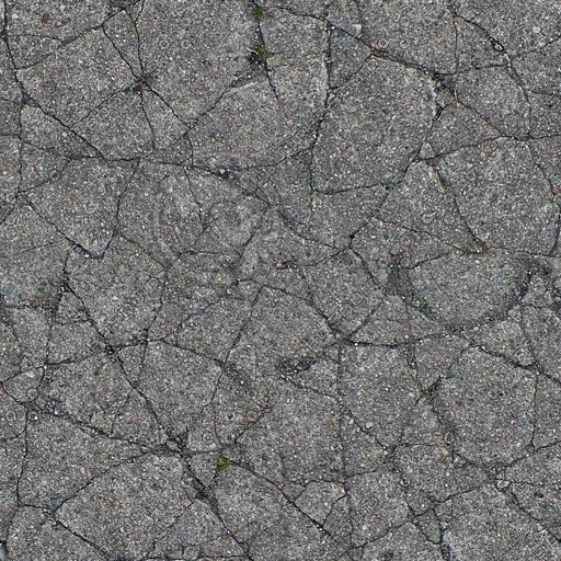 G224 cracked concrete cement
