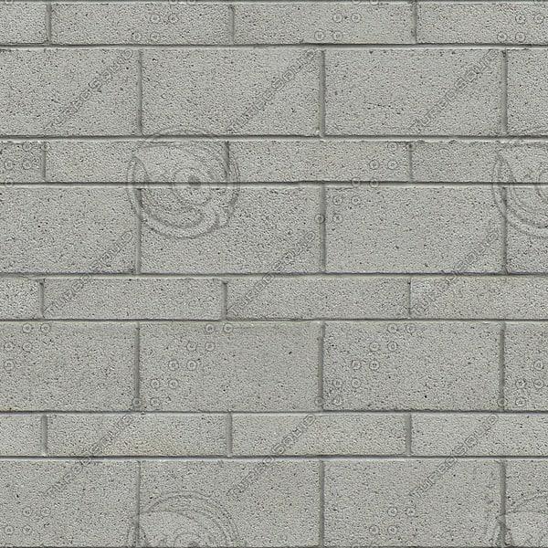 BL159 white concrete cinder breezeblocks