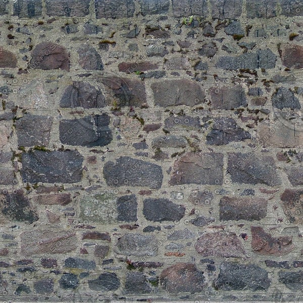 W125 Dark stone wall texture