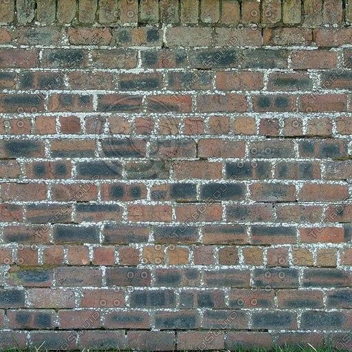 W055 garden brick wall texture