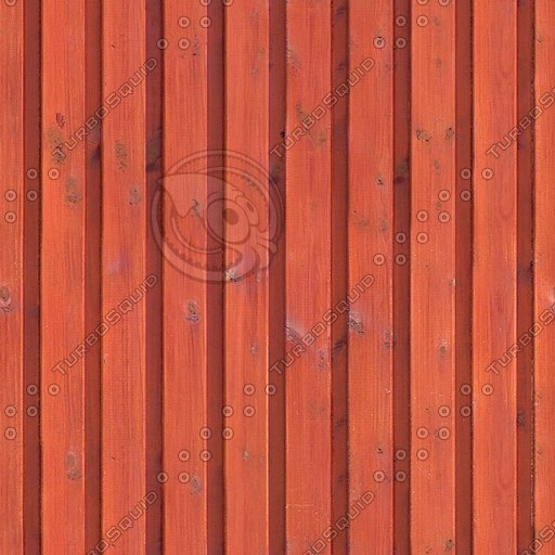 WD006 stained wooden fence