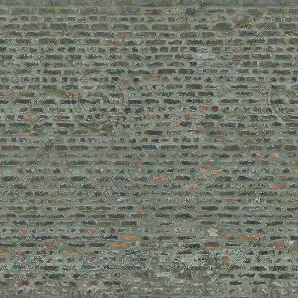 W407 old brick wall texture