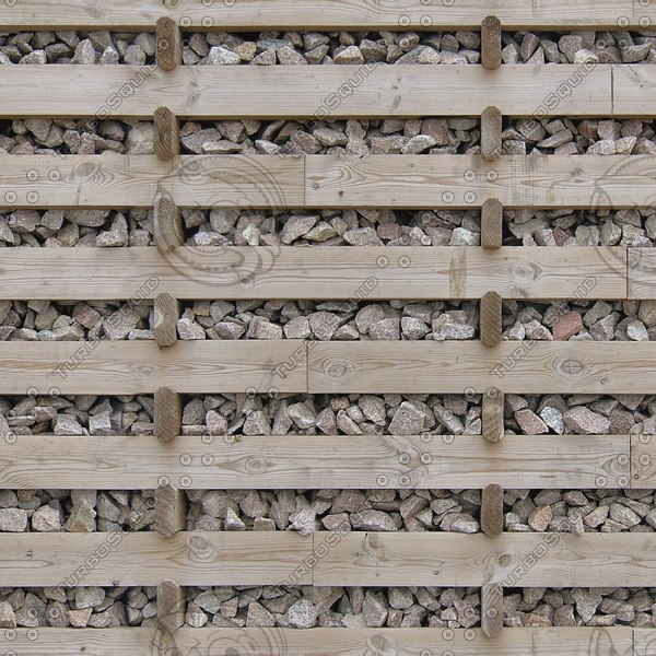 WTX040 gabion wall wooden
