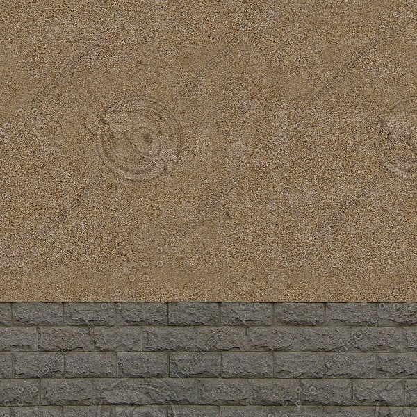 W138 stucco brick wall