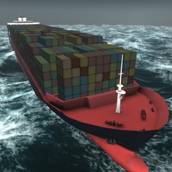 zim canada ship containes 3d model