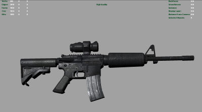 M4 gun lowpoly version