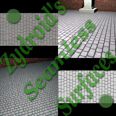 SRF concrete paving stones with bump map