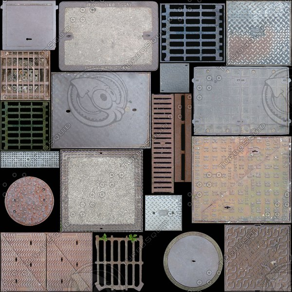 manhole covers texture collection