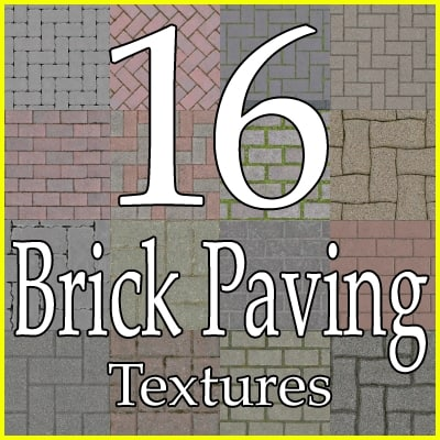 Brick paving cobblestones texture collection