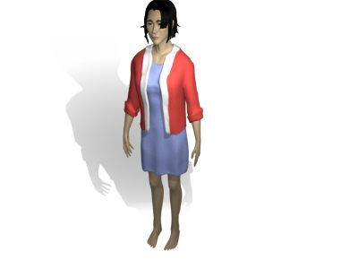 girl woman human 3d obj
